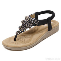 Wholesale woman leather sandals Black Apricot Fashion T tied PU Flip Flops Flat Size to