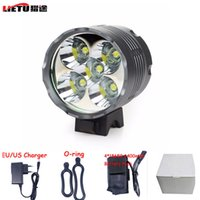 bicycle adapter - CREE XM L x T6 Bicycle Light Aluminum Lumen LED Front Bike Light Lamp Waterproof Charger Adapter mAh Battery Pack DC Charge