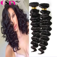 beautiful hair woman - Cheap Natural Black Deep Wave Women Beautiful Human Brazilian Virgin Hair Weaving Unprocessed Virgin Brazilian Hair Extensions