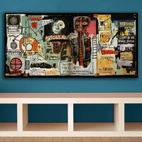 basquiat prints - ome Decor Painting Calligraphy Cuadros Decoracion Painting Notary Jean Michel Basquiat neo expressionism For Graffiti Art Print On Canva