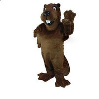 barney picture - Barney Beaver Mascot Costumes Cartoon Character Adult Sz Real Picture