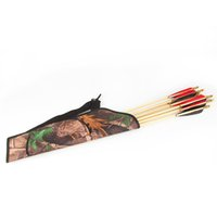 archery cases - Newest High Quality Portable Camo Archery Bow Arrow Belt Quiver Forest Hunting Bag PVC Case