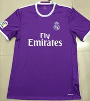 Wholesale A Thai quality Real Madrid away purple soccer Jerseys Real Madrid RONALDO SERGIO RAMOS BALE Football Shirts