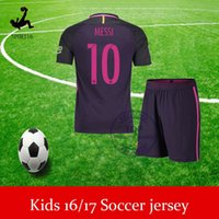baby sports jerseys - Free ship Barcel home away jersey messi neymar jr suarez PIQUE A INIESTA KIDS CHILD BABY KITS SHIRTS CUSTOMIZED sports jersey
