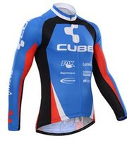 bicycles cube - Pro Bicycle Jersey Long Sleeve Mountain Cycling jerseys Cube Sports cube Race Winter Cyclewear Bike Clothes