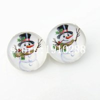 Wholesale 2015 hot selling ginger snaps jewelry mm Christmas snowman snap button for snap button bracelet necklace