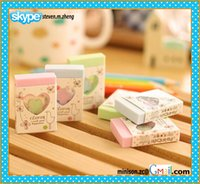 assorted erasers - simple design die cut rubber eraser in colorful assorted good quality erasers for school office use