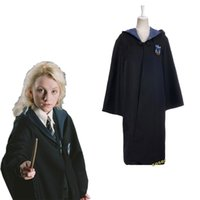 Wholesale Coser Halloween Movie Harry Potter Ravenclaw School Cosplay Costumes Clothes Role Luna Lovegood Magic Gown Robe Cloak