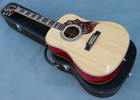 Wholesale handcrafted guitar inch wood color string humminbird wood color OEM acoustic electric guitar