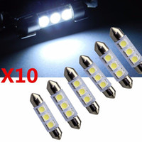 Wholesale 10pc White MM LED SMD Festoon Dome Car Light Interior Lamp Bulb V RF oy040