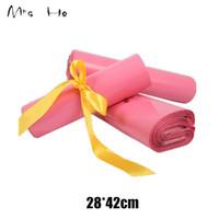 28 * 42cm Poly empaqueta los bolsos rosados anuncios publicitarios de los sobres de envío Bolsas de plástico del sello auto del correo urgente Embalaje Bolsita PP729