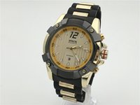 invicta watch - Invicta Mens Russian Diver Collection Chronograph K Gold Plated Black Rubber Watch