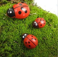 artificial bugs - Artificial Mini Lady Bugs Insects Beatle Fairy Garden Miniatures Gnome Moss Terrarium Decor Resin Crafts Bonsai Home Decor for DIY Hot Sale