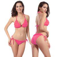 american girl bikini - New Fashion Bikini Colors Flowers European and American Women Girls Sexy Summer Swimwear and Swimsuits Bikinis