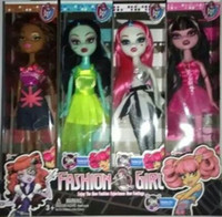 Cheap 2015 girls monster high barbie dolls 24.5 cm fad girl toys kids girl moveable joint empty body doll J062504#