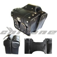 Wholesale Universal PU leather motorcycle saddlebags bag for motorcycle motocicleta bag pair right and left for moto scooter