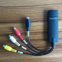 Wholesale NEW EasyCAP USB Video Capture Adapter with Audio TV DVD VHS Capture Card AV Computer CCTV Camera High Quality