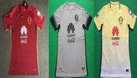 Cheap DHL shipping 2016 Mexico club american soccer jersey thai quality 2016-2017 Mexico club american red yellow grey soccer football jersey