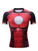 Wholesale 2016 The Avengers t shirt men superhero Batman Jersey shirt sports quick dry fitness compression drying T shirt D girly men