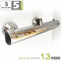 bar shower valves - Thermostatic Shower Bar Faucet Valve Mixer tap up out let chrome plated brass body LY10