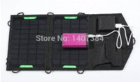 Cheap Free Shipping 7W Solar Panel Mobile Phone Charger Kit, Foldable Folding Solar Panel Battery Charger + USB 5.5V Output