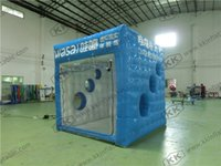 airtight games - Outside Airtight Printed Camping Inflatable photo booth inflatable cube exhibition tent