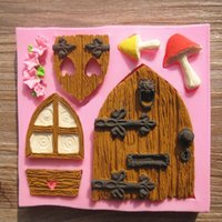 Wholesale 3D Fairy House Door Silicone Fondant Mould Cake Decorating Chocolate DIY Tool