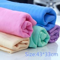 Wholesale OPP bag water absorption towel micro suede towel small car pet with towel deerskin towel cloth in the kitchen cm