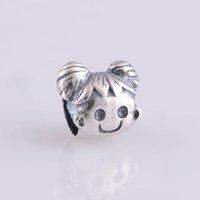 bead sunshine - Sunshine Girl Charm Loose Bead Silver Fits DIY Bracelet For Women Jewelry No50 lw FJ048