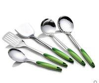 Wholesale 5PCS Set Stainless steel kitchen supplies shovel kitchenware cookware cooking Rice Soup Spoon Colander Drain shovel Spatula
