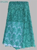 african fabric panels - 2016 High quality African lace fabritop quality silk fabric printing Africa Africa beautiful embroidered lace fabric panel dress AYJ22