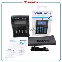 Wholesale Original XTAR VC4 Charger Multifunctional battery charger with LCD display for Li ion Batteries Ni MH battery New Package