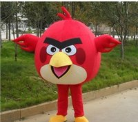 Wholesale Adult Size red bird Mascot Costume Adult Size Fancy Dress Cartoon Character Party Outfits Suit