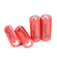 Wholesale UltraFire Batteries Rechargeable Li ion Battery mAh volt with Long Operative Life High Capacity For Flashlight
