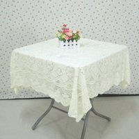 lace tablecloth - Hot Sales Lace Tablecloth Slip resistant Beige Table Cover for Wedding Party Multi purpose Table Cloth Home Decor JM0114