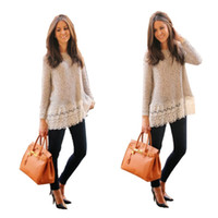 bell jumpers - Fashion Women Casual Long sleeve Knitted Pullover Loose Sweater Knitwear Jumper Tops