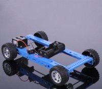 Wholesale Crab Kingdom Four wheel Drive Version Car DIY Model Assembled Car Technology making DIY Model Best Gift