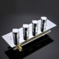 Wholesale 3 lever shower water mixer faucet for bathroom brass large flow L min shower mixer valve