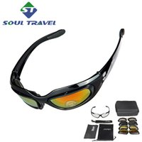 Wholesale 4 Lens Multi Polyurethane Cycling Bicycle Tactical Military Glasses Bike Sunglasses Goggles Eyewear Frame Ciclismo Bicicleta Hot