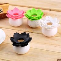 Wholesale 1PCS New Lotus Flower Cotton swab box bud base room decorate Toothpicks holder Toothpick case Home Storage Organizer Household