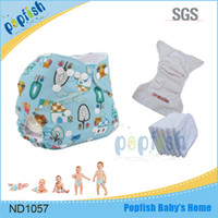 baby health care products - China health care product printed pul newborn baby reusable pocket character printed cloth diaper nappies