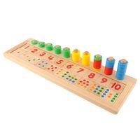 Wholesale Brand New Colourful Montessori Teaching Math Mathematics Number Wood Board Preschool Educational Development Toy Child Gift