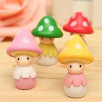 Wholesale DIY Miniature Resin Mushroom Doll Mosses Succulents Potted Micro Landscape Garden Figurine Ornament Fairy