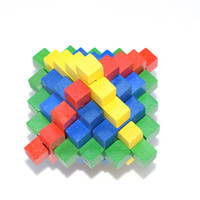 Wholesale New Color Random Delivery Chinese Traditional Color Big Pineapple Wooden Kong Ming Lock Adult and Children Casual Puzzle Decompression