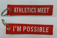 athletic met - Athletics Meet I m Possible Zipper Pull Fabric Embroidery Keychain x cm