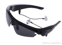 Wholesale Smart Glasses Black Sunglass Sun Sunglasses Bluetooth Headset Sunglass Stereo Monophonic BT double earphone sunglass