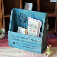Wholesale Zakka Size cm Vintage Wooden Sundries Candy Chocolate Medicine Cards Keys Office Storage Organizer Container Vase Case Pot Box