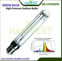Wholesale 2100K High Pressure Sodium Grow Bulbs Garden Lamp W HPS for Flowering Growth with h Life