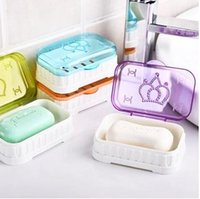 Wholesale Fashion creative plastic multicolor travel transparent flip draining soap box