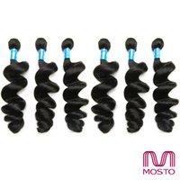 9pc Cheveux brésiliens Cheveux humains indiens péruviens Bundles Loose Wave cheveux tisse Cheveux complets Extensions de cheveux humains